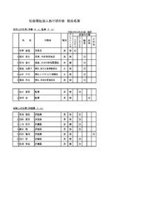役員等名簿 (現況報告用)2021